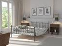 Podwójne łóżko metalowe 140x200 wzór 4 + stelaż
