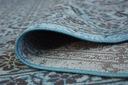 DYWAN VINTAGE 80x150 KWIATY turkus szary #B832 Długość 150 cm