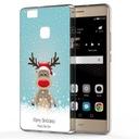 Świąteczne Etui do Huawei P9 Lite Renifer Mikołaj