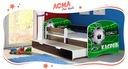 Łóżko dziecięce 140x70 szuflada materac WENGE ACMA Bohater inny