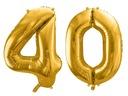 Воздушные шары 40 на день рождения  86cm ЗОЛОТЫЕ FB1M-40 -019