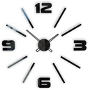 Nowoczesny duży cichy naklejany zegar ścienny D1C