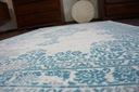 DYWAN VINTAGE 80x150 ROZETA niebieski / beż #B773 Rodzaj z krótkim włosiem