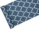 TAPETA modny wzór- marokańska koniczyna niebieska