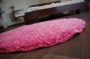 DYWAN SHAGGY 5cm koło 133 cm róż pluszowy @31513 Kształt Koło