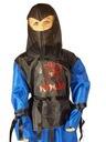 strój NINJA niebieski przebranie 110-116 kostium @