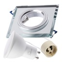 Zestaw 6x oprawa halogenowa SZKLANA kwa + LED GU10 Średnica 6 cm