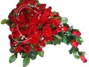 STROIK grób cmentarz pogrzeb SERCE z 60 róż bukiet
