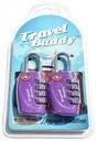 2x KŁÓDKI BAGAŻOWE TSA TRAVEL BUDDY 4 PIN - FIOLET Kod producenta TSA330