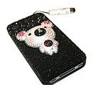 SWAROVSKI panel 3D iPhone 4 4S PANDA dwustronny