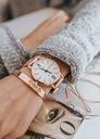 Zegarek damski GENEVA klasyczny biały złoty Marka Geneva