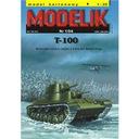 Modelik 1/04 T-100 - rosyjski czołg ciężki 1:25
