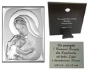 OBRAZEK srebrny Matka Boska Ślub Chrzest 13x18