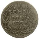 20.NIEMCY - HAMBURG - SZYLING - 1763 OHK