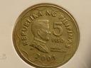 FILIPINY 5 PISO 2001 rok