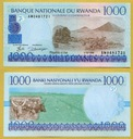 -- RWANDA 1000 FRANCS 1998 AW P27 UNC