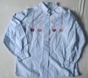 Błęklitna koszula z haftem 128