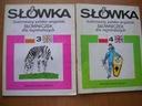 2x Słówka ilustrowany polsko-angielski słowniczek