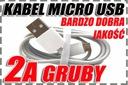 Solidny Gruby Kabel 1,5m MICRO USB 2A do ładowarka