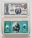 USA PIĘKNA SZTABKA 1$ AG KOLOR PLATED POLECAM