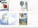 4 kartki pocztowe- Papież Jan Paweł II