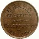 43.USA - ZETON SKLEPOWY- C.BAHR - NEW YORK-1861/65