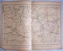 CZECHOSŁOWACJA. CESKE BUDEJOWICE. Mapa kolejowa.