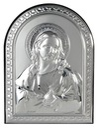 SREBRNY OBRAZEK SECE JEZUSA 6x7,5cm 779 GRAWER