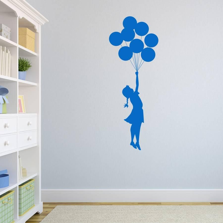 Naklejki Scienne Sciane Banksy Dziewczynka Balony Kupsito Sk