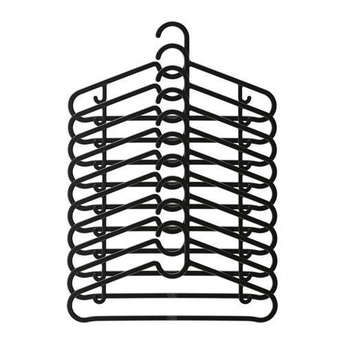 Ikea Spruttig Wieszak Na Ubrania 39cm 10szt Czarny