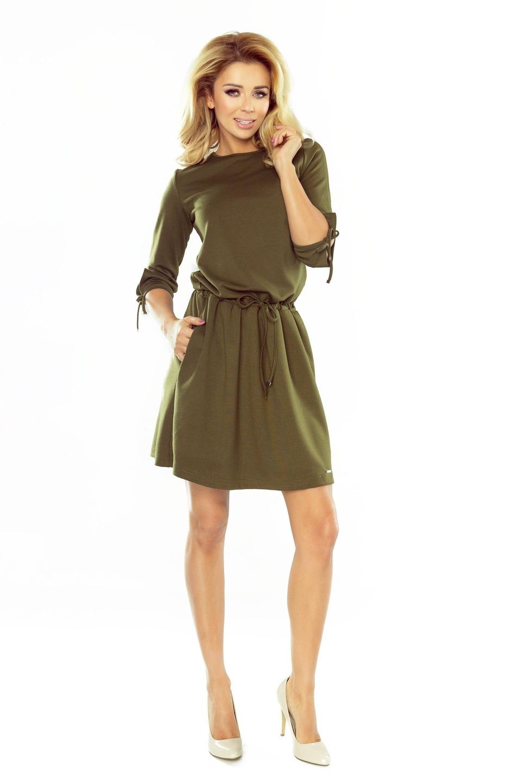 4d28f9dc7d Modne Sukienki DO PRACY ROZKLOSZOWANA 176-2 XL 42 7526082853 ...