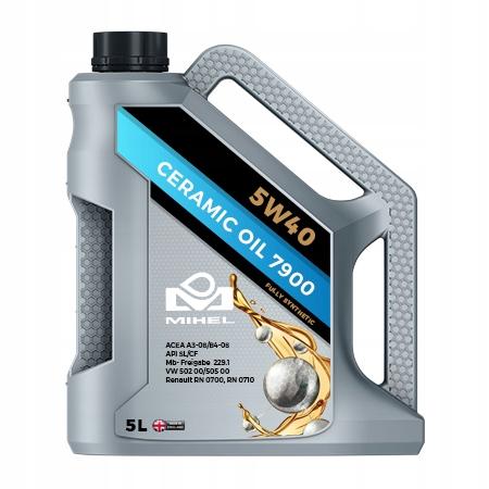MIHEL Ceramic Oil 7900 5W40 Olej ceramiczny 5L