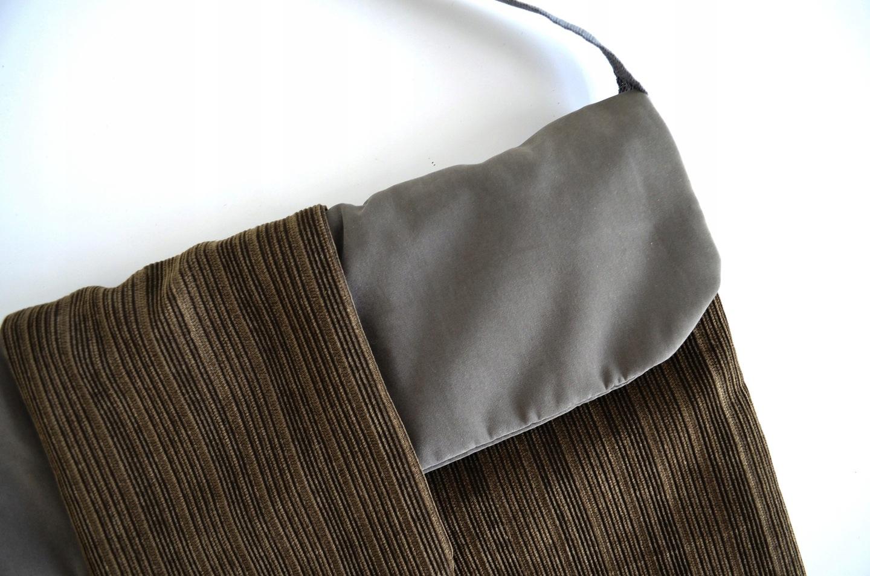 dba0b408e8560 Jesienna duża torba listonoszka na ramię do pracy 7582836255 ...