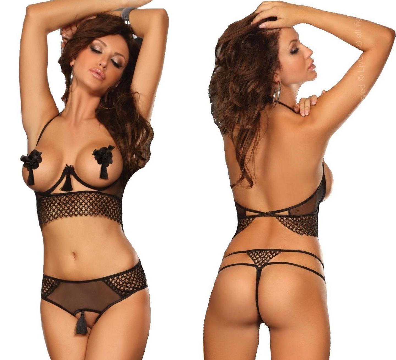 3c846d27be4327 Sexy Bielizna Komplet Open M Majtki Otwarty Krok! 7209213468 ...