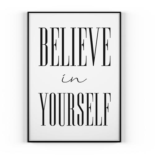 Plakat Believe In Yourself 50x70cm Norweski