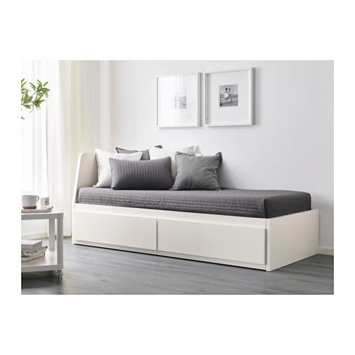 Ikea Flekke łóżko Rozkładane Z Szufladami 160x200