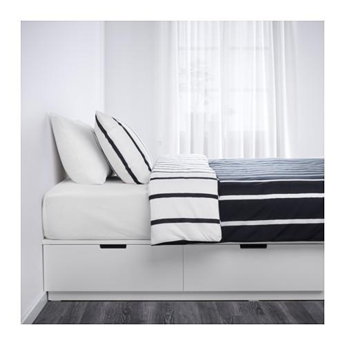 Ikea Rama łóżka Z Szufladami Nordli Białe Kurier24