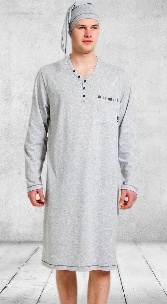 7fbf262623c7ec Koszula nocna męska szlafmyca Bonifacy M-MAX L 6991606349 - Allegro.pl
