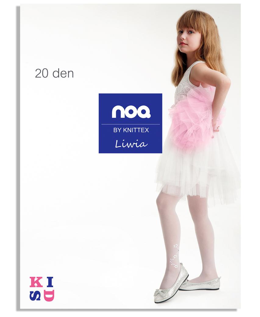 708ba2208ab900 KNITTEX rajstopki LIWIA lycra 20 den # 122-128 6780115829 - Allegro.pl