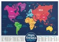 Mapa świata zdrapka PRODUKT POLSKI