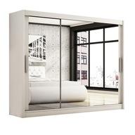 Szafa przesuwna 250 sypialnia biała lustrem 7 dni
