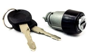 vw transporter t4 90-03r замок зажигания ключи + разъем - фото