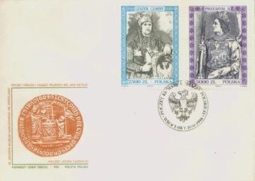 Fi 3336-37 FDC. Счет царей и князей (IX) доставка товаров из Польши и Allegro на русском