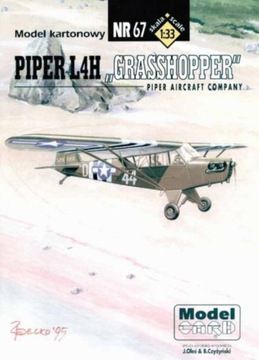 Model Card № 67 Пайпер L4H доставка товаров из Польши и Allegro на русском