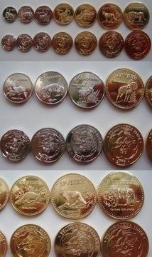 Тува, набор из 7 монет  доставка товаров из Польши и Allegro на русском