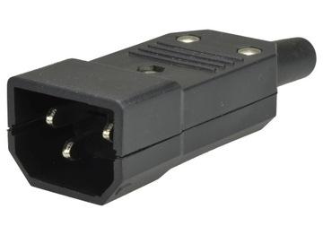 Штекер компьютерный C14 ИБП IEC320 10A на кабель доставка товаров из Польши и Allegro на русском
