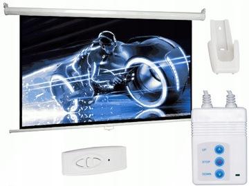 Проекционный экран электрический 200x150 100