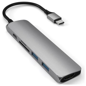 SATECHI-АДАПТЕР USB-C-USB -, HDMI 4K, SD ГРЕЙ доставка товаров из Польши и Allegro на русском