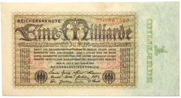 Германия - БАНКНОТА - 1 Миллиард Марок 1923 - 5.9.1923 доставка товаров из Польши и Allegro на русском