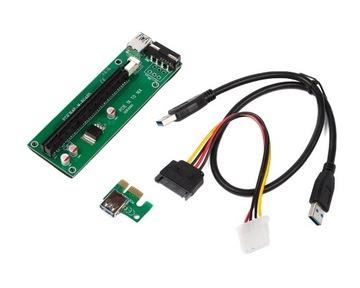 Лента Riser USB 3.0 PCI-E 1x-16x SATA MOLEX 006C доставка товаров из Польши и Allegro на русском